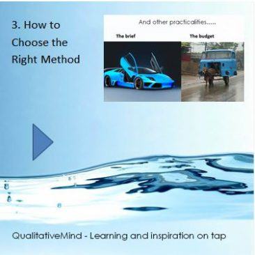 3. How to choose the right qualitative method