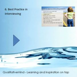 6. Best practice in interviewing