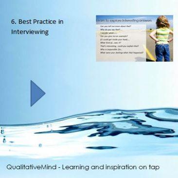 6. Best practice in interviewing