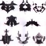 Random inkblots that people have to interpret and a scored by psychologists